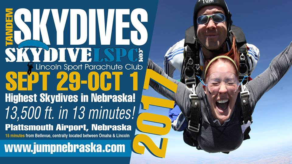 Skydiving Lincoln Ne >> Tandem Skydives - Lincoln Sport Parachute Club - CASS COUNTY